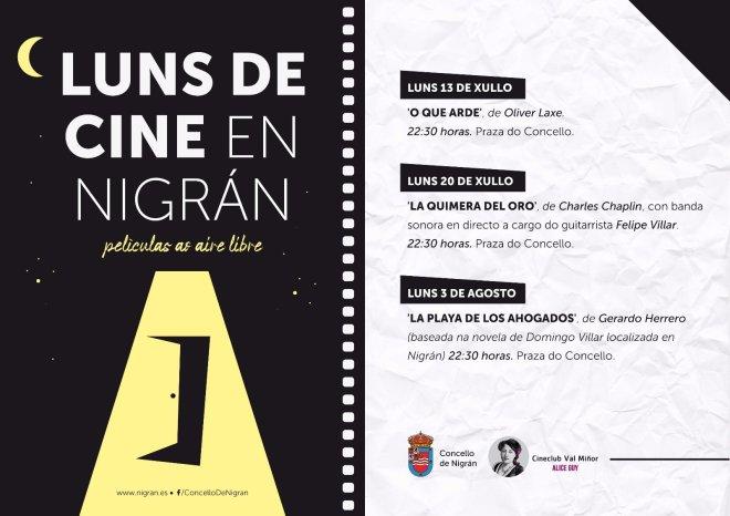 Cartel cine al aire libre Nigran // Nigran.es