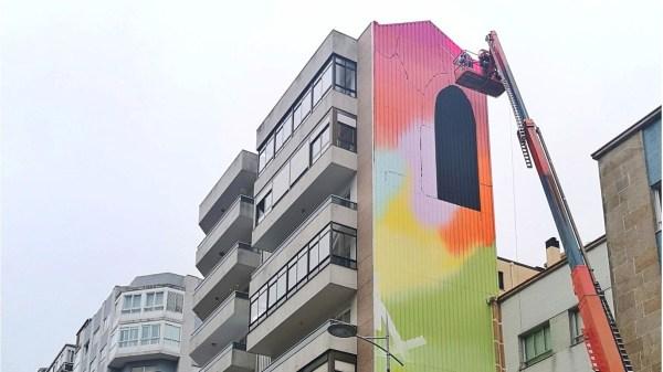 mural vigo cidade de cor
