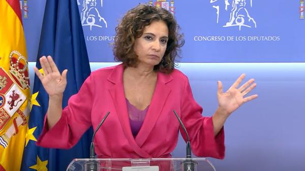 María Jesús Montero, ministra de Hacienda, este jueves en el Congreso de los Diputados | Imagen: TimeJust