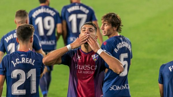 Rafa Mir celebrando un gol en El Alcoraz   @SDHuesca