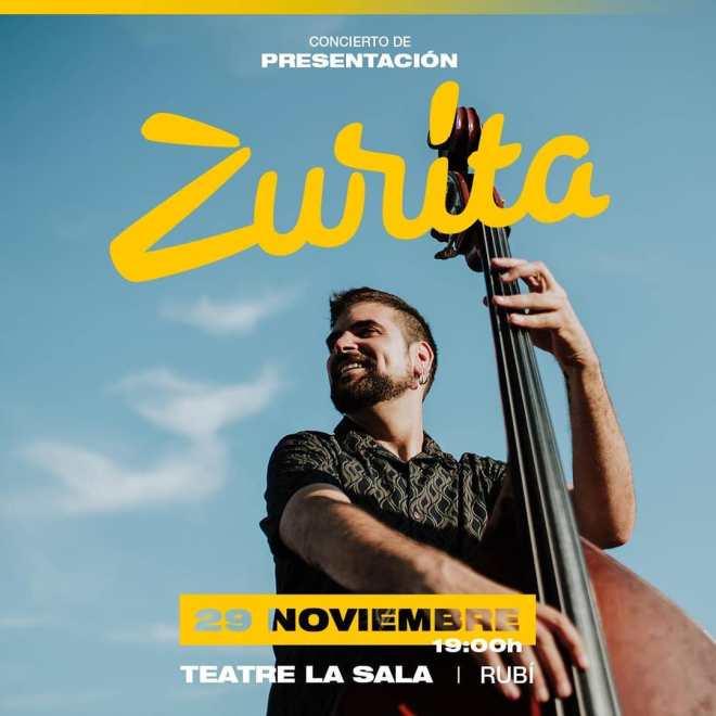 Cartel concierto Zurita