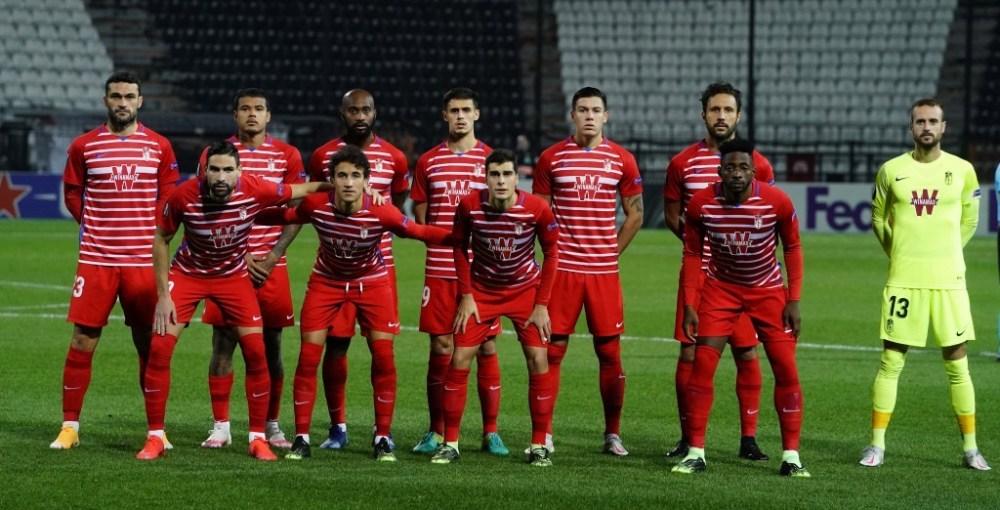 Foto del once en el partido ante el PAOK en la segunda vuelta