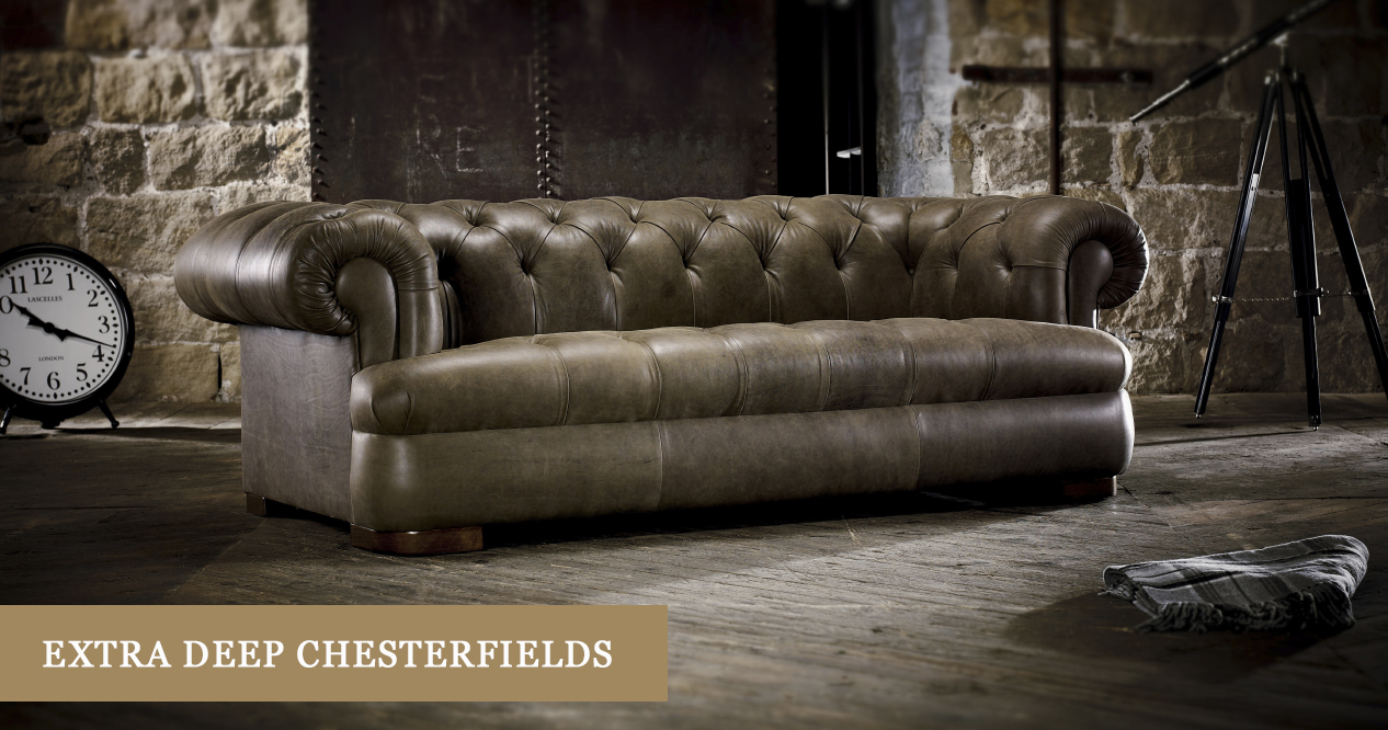 extra deep seated chesterfield sofas