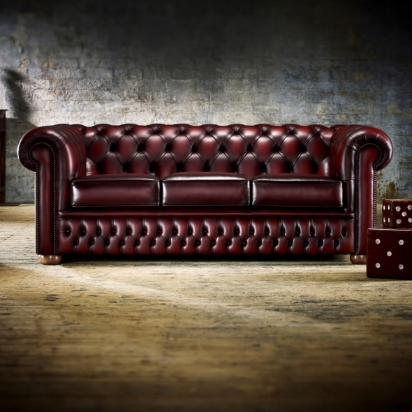 Chesterfield Chair In Antique Red From Timeless