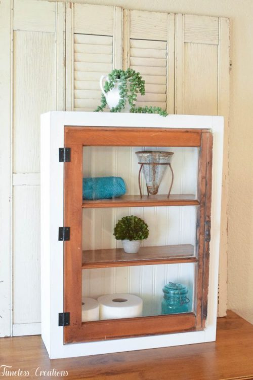 diy window wall cabinet by timeless creations