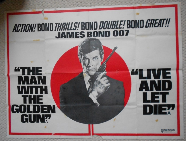 Man With The Golden Gun Live And Let Die Combo UK Quad