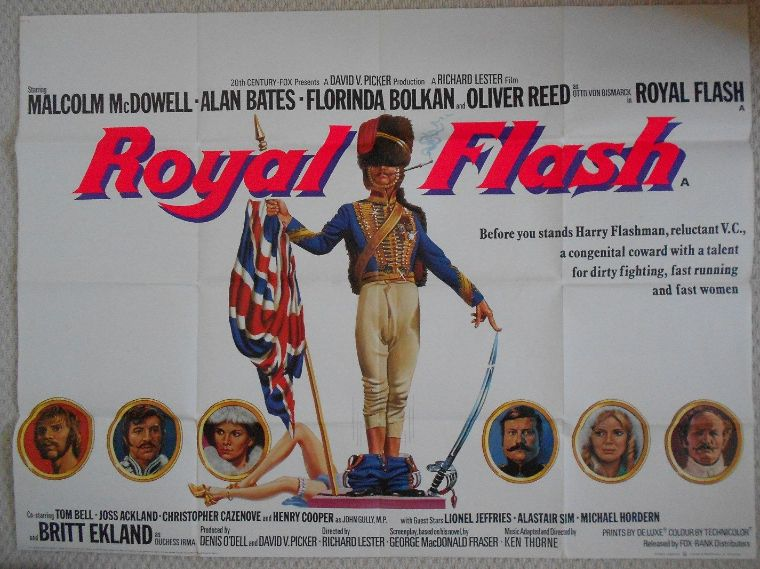 Royal Flash UK Quad Poster Malcolm McDowell Alan Bates Rare 75