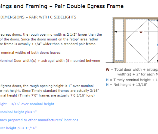 Download Double Egress Pair With Classic Transom Rough Opening Image