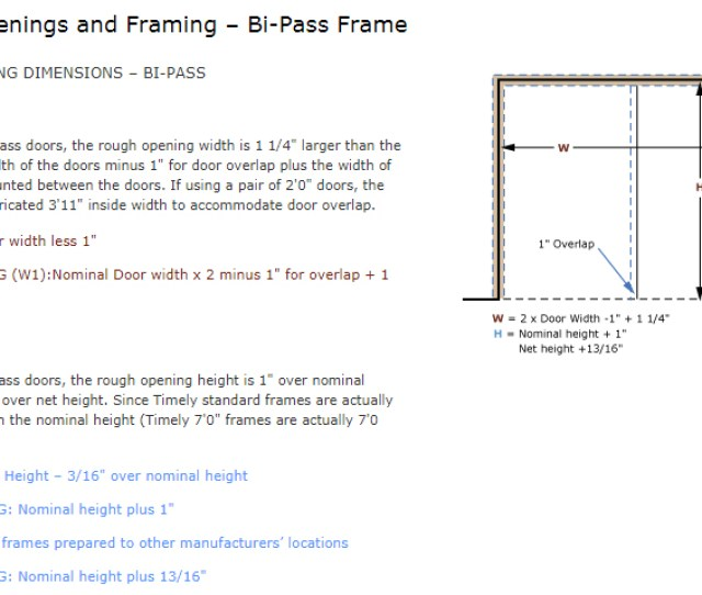 Download Bi Pass Frame Rough Opening Image