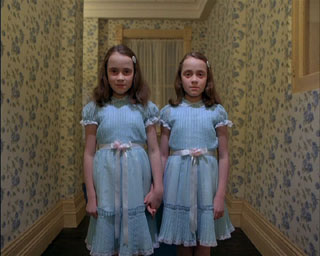 really scary twin girls from the shining...