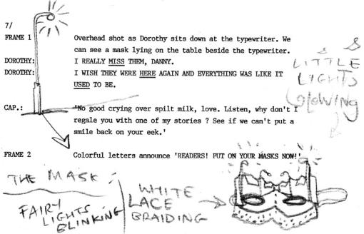 Grant Morrison Script For Doom Patrol Doodled On By Brendan McCarthy