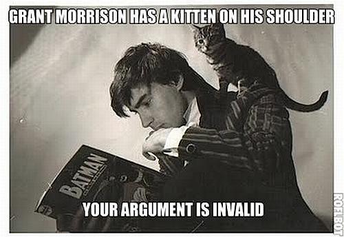 Grant Morrison And Kitten