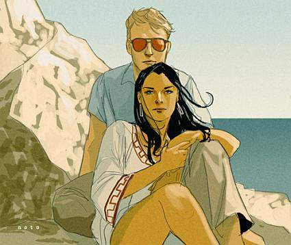 A picture of Matt Murdock and Elektra