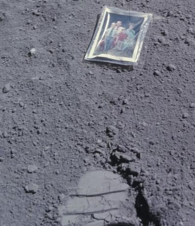 A Family Photo Left On The Moon In 1972