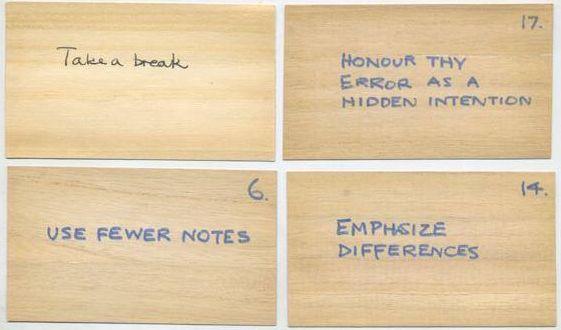 Original Oblique Strategies