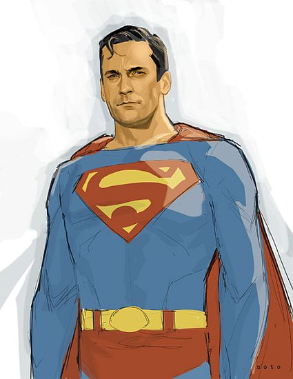 Jon Hamm as Superman by Phil Noto