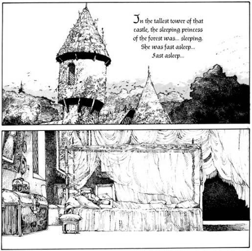 Panels from Katsuhiro Otomo's Sleeping Beauty
