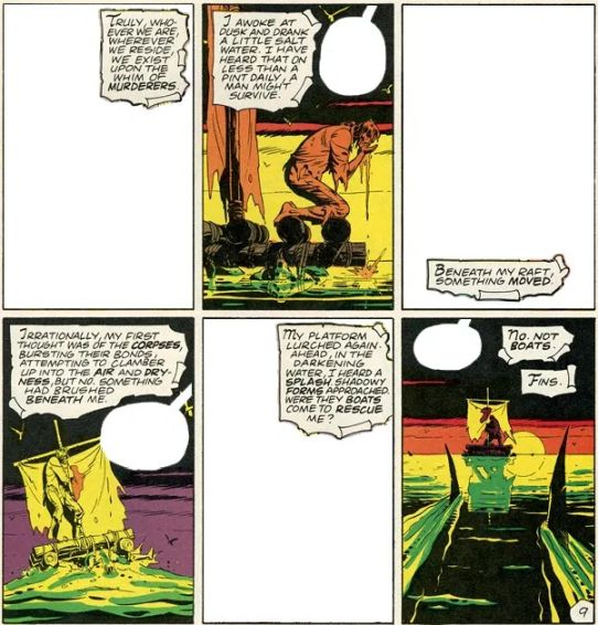 Panels from Watchmen's Marooned comic-within-comic