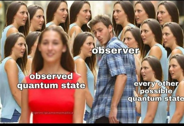 Distracted Quantum State Boyfriend