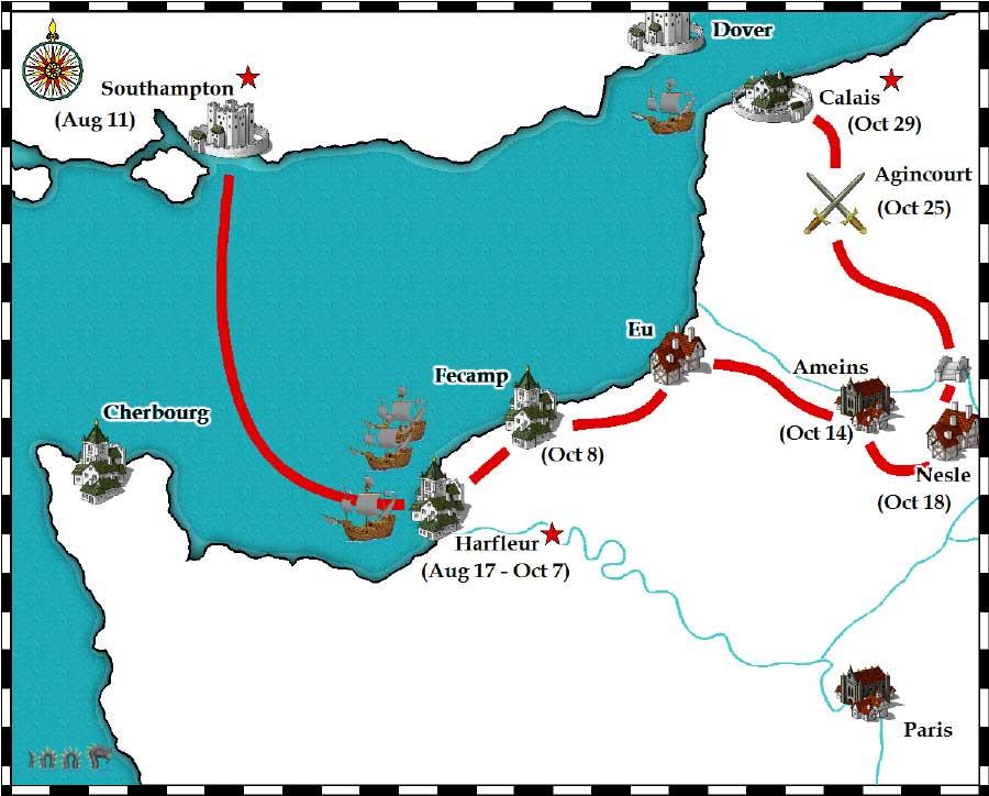 Image result for henry v map conquest of france