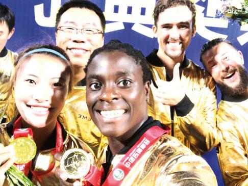 Tabitha Chawinga wins Chinese Cup