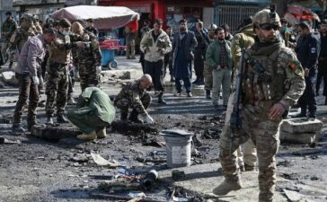 Explosions in Kabul kill two, wound five
