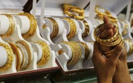 Gold declines ₹358; silver up ₹151