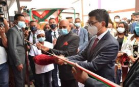 Madagascar President inaugurates advanced digital cobalt therapy machine Bhabhatron-II donated by India