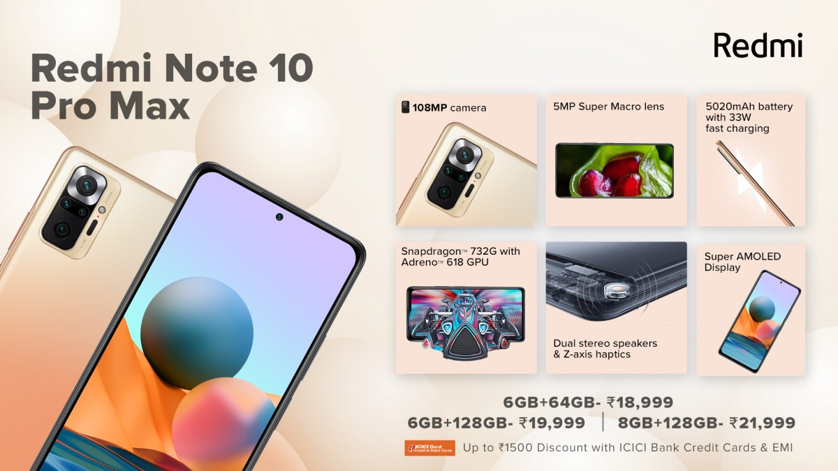 Redmi Note 10, 10 Pro and 10 Pro Max debut in India
