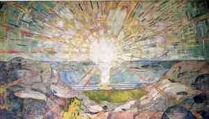 Love of God (painting The Sun by Edvard Munch)