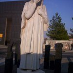 "Photo of the statue ""Jesus Wept"" at the Oklahoma City Memorial by Crimsonedge34."
