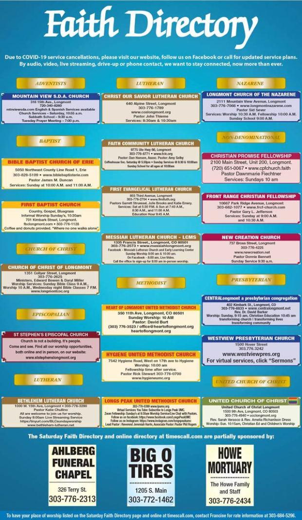 Times Call Faith Directory