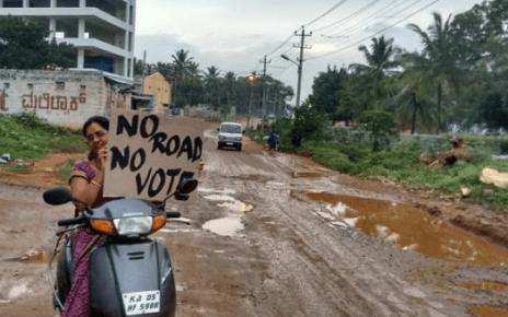 bangalore no road no vote