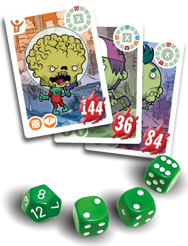 Roll your dice and battle Aliens and Zombies!