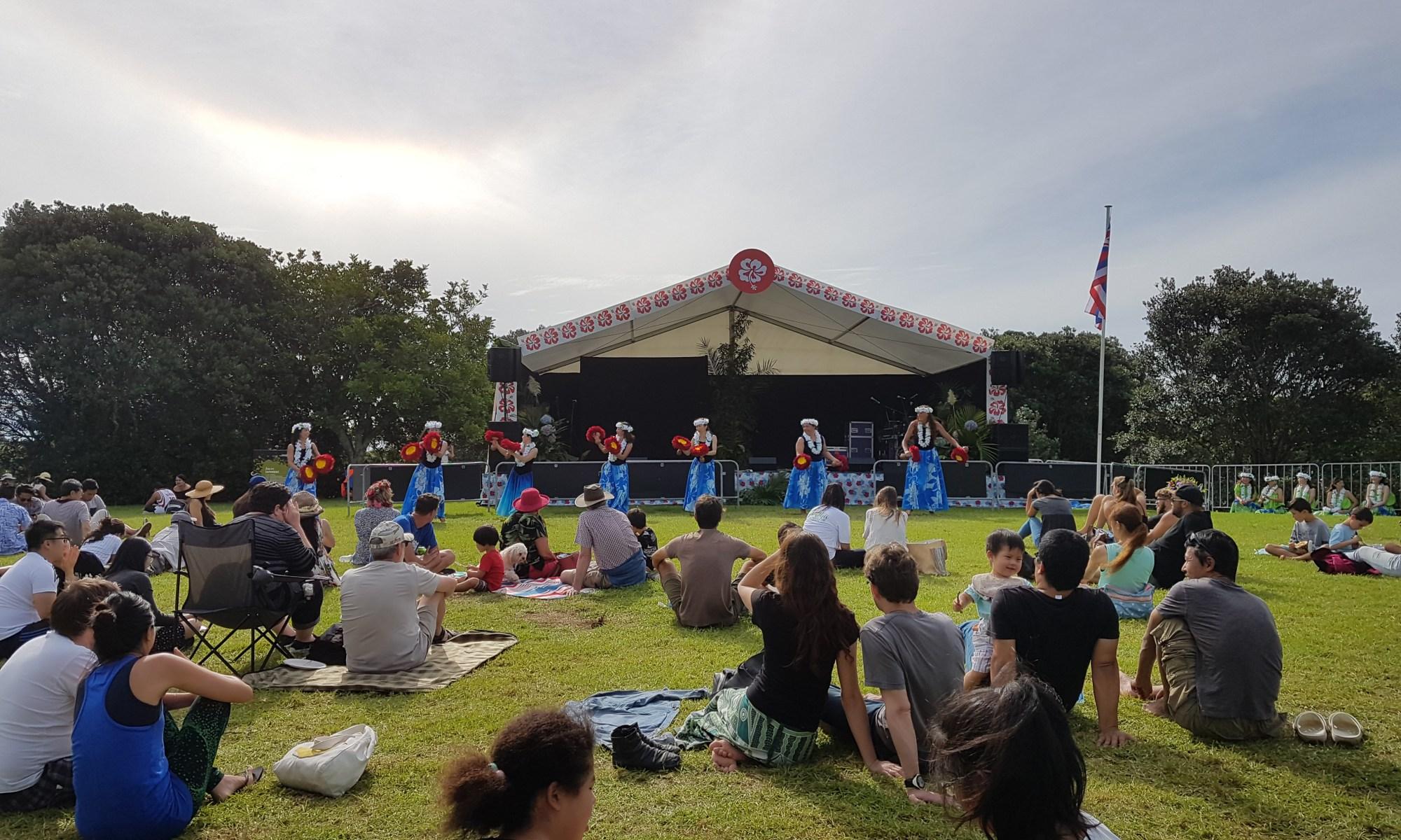 Hawaiianischer Tanz auf dem Pasifika Festival