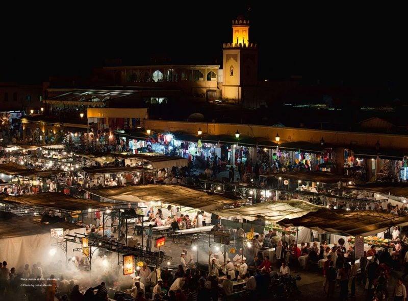 Djemaa El Fna streetfood in Marrakech