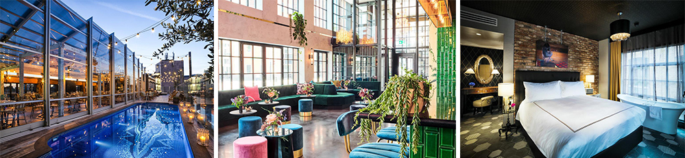 hotels met rooftop pools - The Curtain Londen