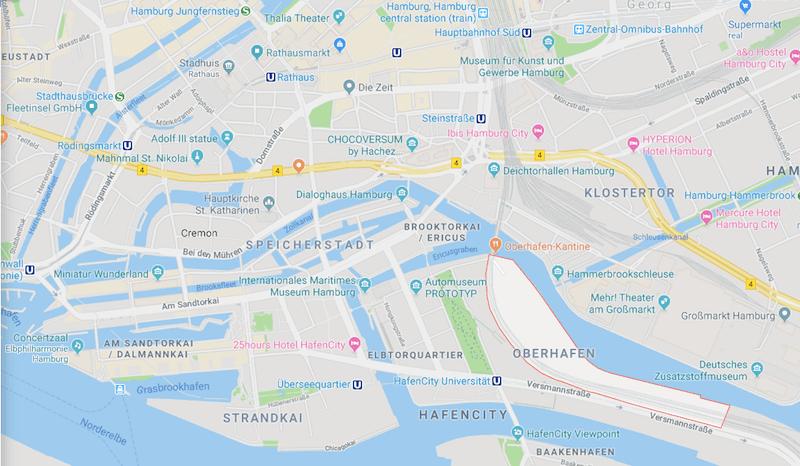 Maps Oberhafenquartier Hamburg