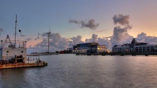 Õhtune vaade Nasva laevatehasele, HDR foto