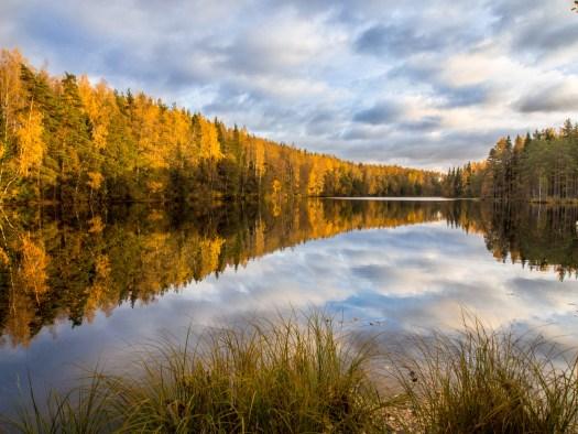 Sügisvärvides Kõverjärv, Jussi järvestikus.