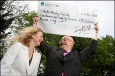 lloyds tsb cheque presentation to housing association © Tim Gander
