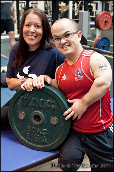 EDF staff member volunteering at ParalympicGB team training, Bath