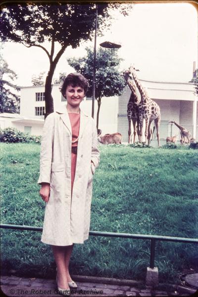 My mum at Frankfurt Zoo, circa 1960.