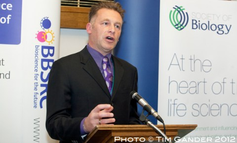 TV presenter Chris Packham speaks at Biology Week event, London