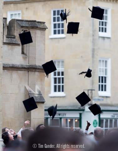 University of Bath Summer Graduations, Ceremony 11 hat-throwing