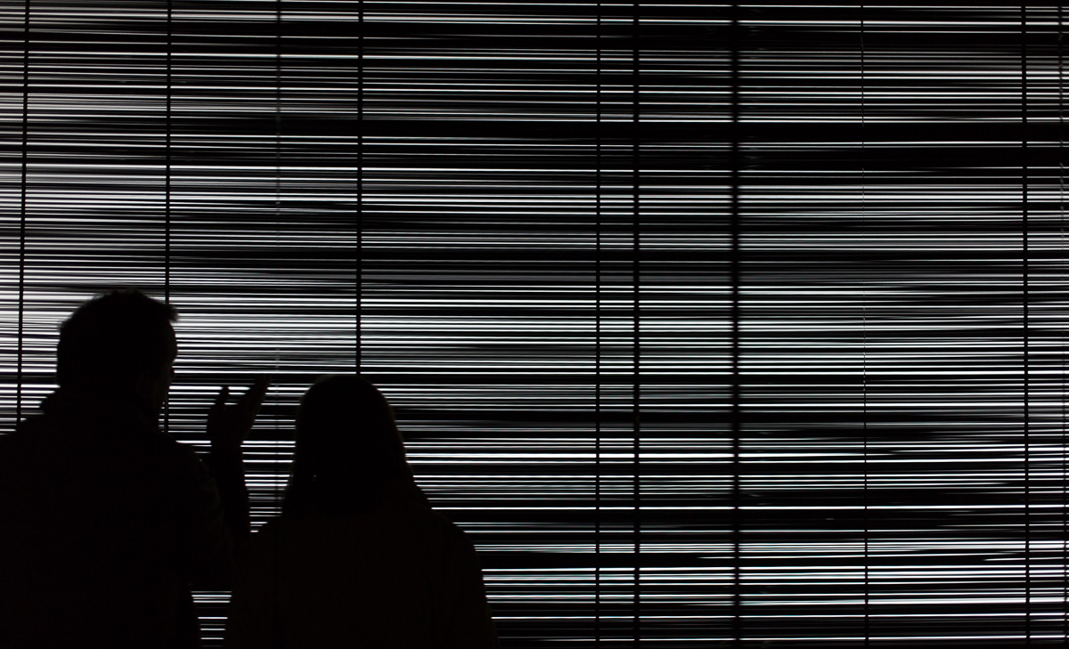 "White Noise, a ""video"" installation by Zilvinas Kampinas."