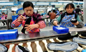 Sports Shoe Production is Labour Intensive
