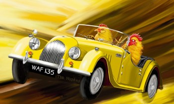 Fearless (yellow Morgan Plus 4, 1956): limited edition canvas print