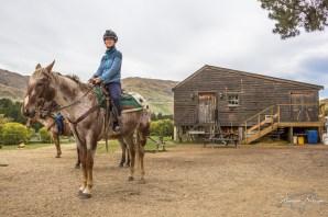 Emilie à cheval