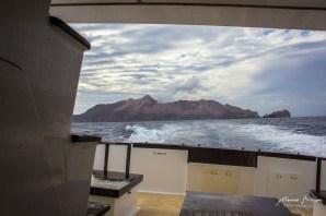 Départ en bateau de White Island